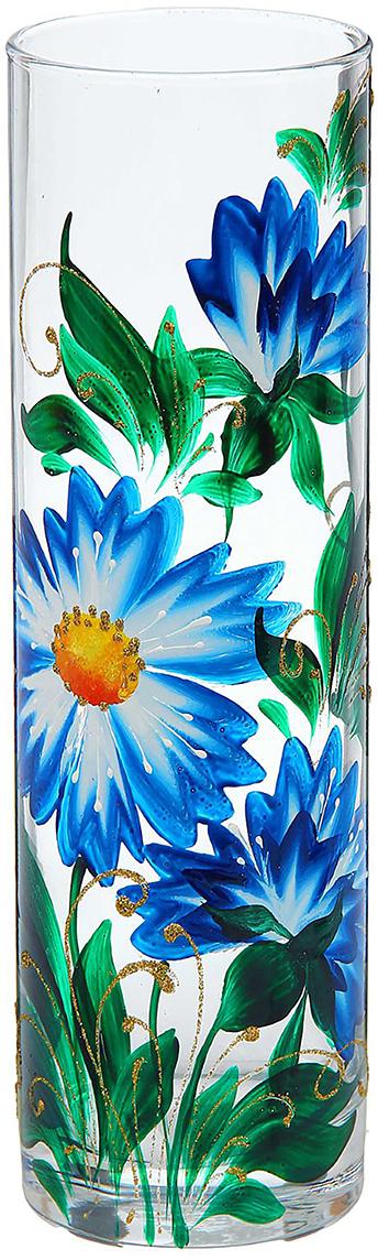 Ваза Василёк, 26,5 см1290796Ваза Василёк - не просто сосуд для букета, а украшение убранства. Поставьте в неё цветы или декоративные веточки, и эффектный интерьерный акцент готов! Стеклянный аксессуар добавит помещению лёгкости. Ваза Василёк преобразит пространство и как самостоятельный элемент декора. Наполните интерьер уютом! Каждая ваза выдувается мастером. Второй точно такой же не встретить. А случайный пузырёк воздуха или застывшая стеклянная капелька на горлышке лишь подчёркивают её уникальность.