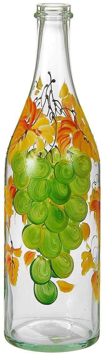 Ваза Бутыль, 1 л. 12982221298222Ваза - не просто сосуд для букета, а украшение убранства. Поставьте в неё цветы или декоративные веточки, и эффектный интерьерный акцент готов! Стеклянный аксессуар добавит помещению лёгкости.Ваза Бутыль, зелёный виноград, 1 л преобразит пространство и как самостоятельный элемент декора. Наполните интерьер уютом!Каждая ваза выдувается мастером. Второй точно такой же не встретить. А случайный пузырёк воздуха или застывшая стеклянная капелька на горлышке лишь подчёркивают её уникальность.