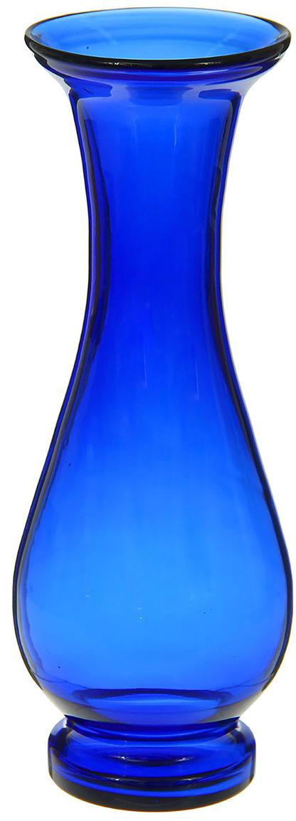 Ваза Талия, цвет: синий, 30 см1298248Ваза - не просто сосуд для букета, а украшение убранства. Поставьте в неё цветы или декоративные веточки, и эффектный интерьерный акцент готов! Стеклянный аксессуар добавит помещению лёгкости.Ваза Талия синяя преобразит пространство и как самостоятельный элемент декора. Наполните интерьер уютом!Каждая ваза выдувается мастером. Второй точно такой же не встретить. А случайный пузырёк воздуха или застывшая стеклянная капелька на горлышке лишь подчёркивают её уникальность.