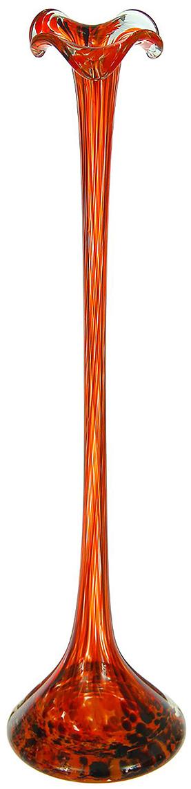 Ваза Сияние, цвет: красный, 51 см1298260Ваза - не просто сосуд для букета, а украшение убранства. Поставьте в неё цветы или декоративные веточки, и эффектный интерьерный акцент готов! Стеклянный аксессуар добавит помещению лёгкости. Ваза Сияние красно-марганцевая преобразит пространство и как самостоятельный элемент декора. Наполните интерьер уютом! Каждая ваза выдувается мастером. Второй точно такой же не встретить. А случайный пузырёк воздуха или застывшая стеклянная капелька на горлышке лишь подчёркивают её уникальность.