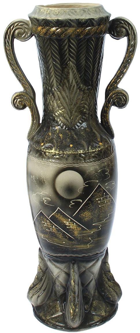 Ваза напольная Керамика ручной работы Афина, цвет: серый. 12991781299178Это ваза - отличный способ подчеркнуть общий стиль интерьера. Существует множество причин иметь такой предмет дома. Вот лишь некоторые из них: Формирование праздничного настроения. Можно украсить вазу к Новому году гирляндой, тюльпанами на 8 марта, розами на день Святого Валентина, вербой на Пасху. За счёт того, что это заметный элемент интерьера, вы легко и быстро создадите во всём доме праздничное настроение. Заполнение углов, подиумов, ниш. Таким образом можно сделать обстановку более уютной и многогранной. Создание групповой композиции. Если позволяет площадь пространства, разместите несколько ваз так, чтобы они сочетались по стилю или цветовому решению. Это придаст обстановке более завершённый вид. Подходящая форма и стиль этого предмета подчеркнут достоинства дизайна квартиры. Ваза может стать отличным подарком по любому поводу, ведь такой элемент интерьера практичен и способен каждый день создавать хорошее настроение!