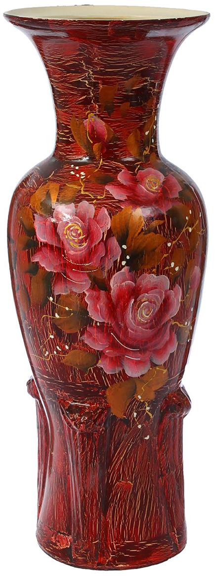 Ваза напольная Керамика ручной работы Элегия, цвет: красный1299185Это ваза - отличный способ подчеркнуть общий стиль интерьера. Существует множество причин иметь такой предмет дома. Вот лишь некоторые из них: Формирование праздничного настроения. Можно украсить вазу к Новому году гирляндой, тюльпанами на 8 марта, розами на день Святого Валентина, вербой на Пасху. За счёт того, что это заметный элемент интерьера, вы легко и быстро создадите во всём доме праздничное настроение. Заполнение углов, подиумов, ниш. Таким образом можно сделать обстановку более уютной и многогранной. Создание групповой композиции. Если позволяет площадь пространства, разместите несколько ваз так, чтобы они сочетались по стилю или цветовому решению. Это придаст обстановке более завершённый вид. Подходящая форма и стиль этого предмета подчеркнут достоинства дизайна квартиры. Ваза может стать отличным подарком по любому поводу, ведь такой элемент интерьера практичен и способен каждый день создавать хорошее настроение!