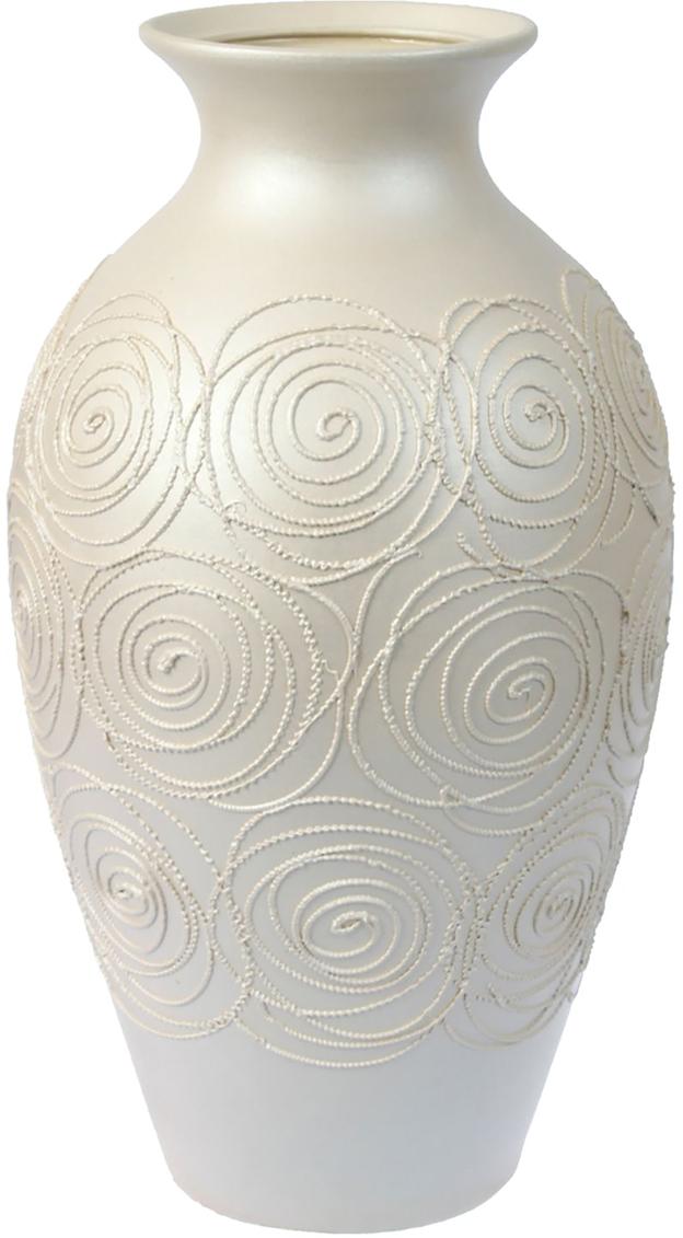 Ваза напольная Керамика ручной работы Классика, цвет: белый. 12992831299283Ваза напольная Классика станет прекрасным украшением вашей комнаты.Эта ваза станет прекрасным подарком на любое торжество.Ваза выполнена из высококачественной керамики.Цвет вазы однотонный, белый. Есть орнамент.Ваза - привлекательная деталь, которая поможет воплотить вашу интерьерную идею, создать неповторимую атмосферу в вашемдоме.