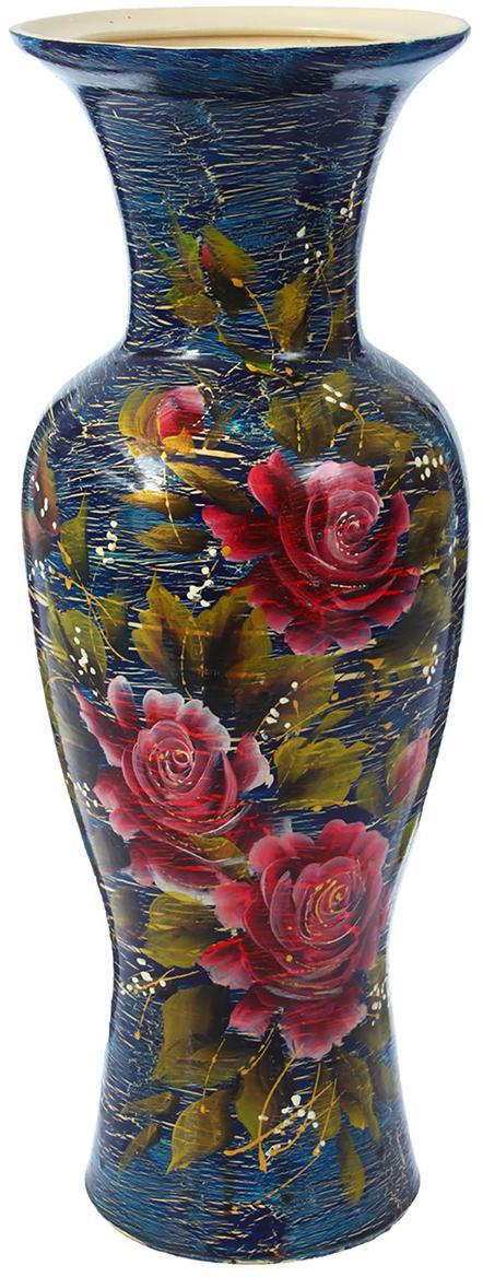 Ваза напольная Керамика ручной работы Элегия, цвет: синий1302243Это ваза - отличный способ подчеркнуть общий стиль интерьера. Существует множество причин иметь такой предмет дома. Вот лишь некоторые из них: Формирование праздничного настроения. Можно украсить вазу к Новому году гирляндой, тюльпанами на 8 марта, розами на день Святого Валентина, вербой на Пасху. За счёт того, что это заметный элемент интерьера, вы легко и быстро создадите во всём доме праздничное настроение. Заполнение углов, подиумов, ниш. Таким образом можно сделать обстановку более уютной и многогранной. Создание групповой композиции. Если позволяет площадь пространства, разместите несколько ваз так, чтобы они сочетались по стилю или цветовому решению. Это придаст обстановке более завершённый вид. Подходящая форма и стиль этого предмета подчеркнут достоинства дизайна квартиры. Ваза может стать отличным подарком по любому поводу, ведь такой элемент интерьера практичен и способен каждый день создавать хорошее настроение!