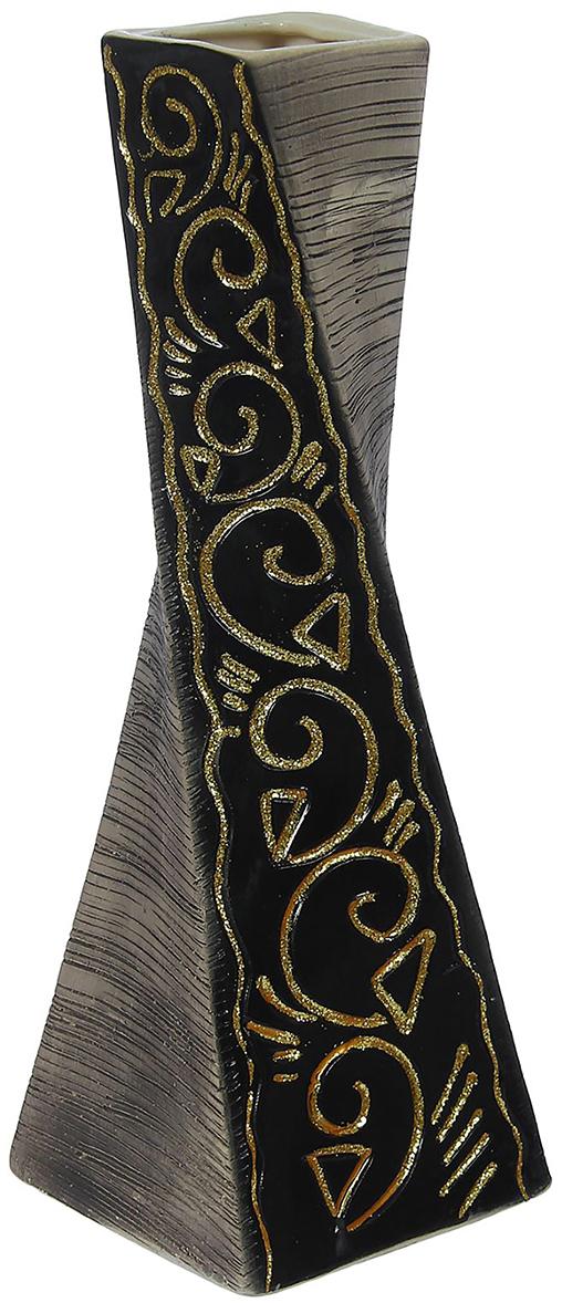 Ваза Керамика ручной работы Эквилибриум, цвет: черный, ��ольшая