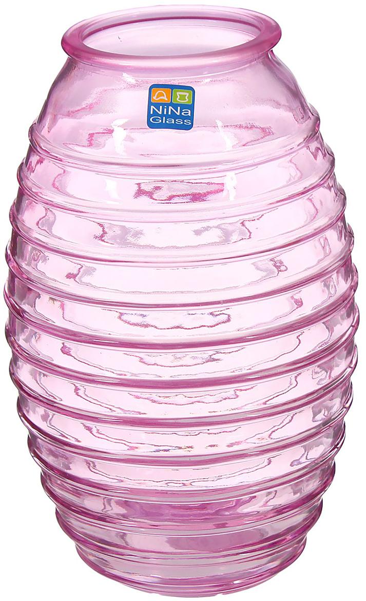 Ваза NiNa Glass Лайт, цвет: сиреневый, 19,5 см1329660Ваза - не просто сосуд для букета, а украшение убранства. Поставьте в неё цветы или декоративные веточки, и эффектный интерьерный акцент готов! Стеклянный аксессуар добавит помещению лёгкости.Ваза Лайт сиреневая преобразит пространство и как самостоятельный элемент декора. Наполните интерьер уютом!Каждая ваза выдувается мастером. Второй точно такой же не встретить. А случайный пузырёк воздуха или застывшая стеклянная капелька на горлышке лишь подчёркивают её уникальность.