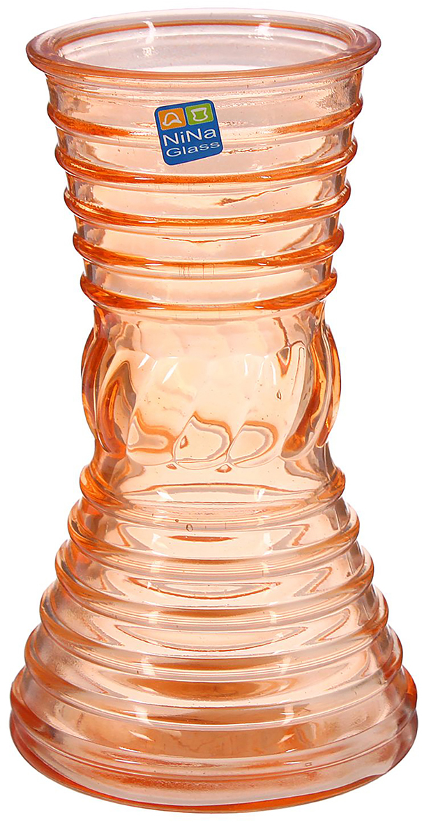 Ваза NiNa Glass Грейс, цвет: оранжевый, 19 см1329664Ваза - не просто сосуд для букета, а украшение убранства. Поставьте в неё цветы или декоративные веточки, и эффектный интерьерный акцент готов! Стеклянный аксессуар добавит помещению лёгкости. Ваза Грейс оранжевая преобразит пространство и как самостоятельный элемент декора. Наполните интерьер уютом! Каждая ваза выдувается мастером. Второй точно такой же не встретить. А случайный пузырёк воздуха или застывшая стеклянная капелька на горлышке лишь подчёркивают её уникальность.