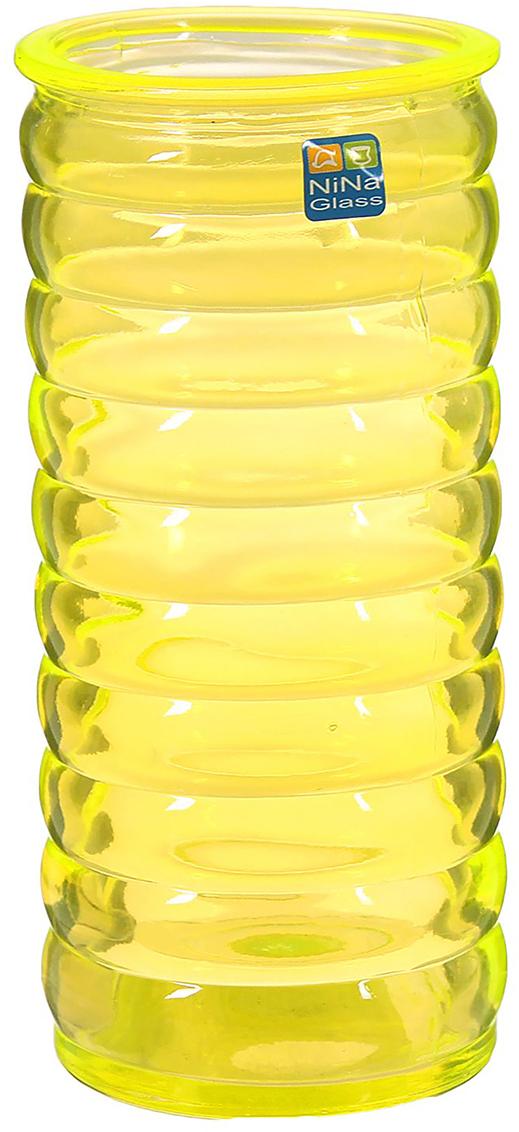 Ваза NiNa Glass Пружина, цвет: желтый, 19,5см1329669Ваза - сувенир в полном смысле этого слова. И главная его задача - хранить воспоминание о месте, где вы побывали, или о том человеке, который подарил данный предмет. Преподнесите эту вещь своему другу, и она станет достойным украшением его дома. Каждому хозяину периодически приходит мысль обновить свою квартиру, сделать ремонт, перестановку или кардинально поменять внешний вид каждой комнаты. Ваза - привлекательная деталь, которая поможет воплотить вашу интерьерную идею, создать неповторимую атмосферу в вашем доме. Окружите себя приятными мелочами, пусть они радуют глаз и дарят гармонию.