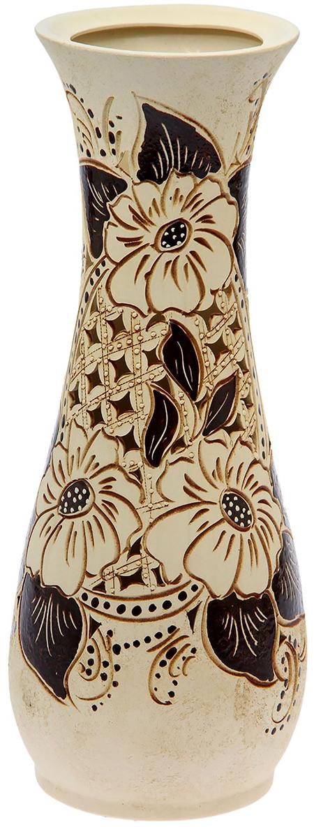 Ваза напольная Керамика ручной работы Осень, цвет: бежевый. 13333851333385Это ваза - отличный способ подчеркнуть общий стиль интерьера.Существует множество причин иметь такой предмет дома. Вот лишь некоторые из них:Формирование праздничного настроения. Можно украсить вазу к Новому году гирляндой, тюльпанами на 8 марта, розами на день СвятогоВалентина, вербой на Пасху. За счёт того, что это заметный элемент интерьера, вы легко и быстро создадите во всём доме праздничноенастроение.Заполнение углов, подиумов, ниш. Таким образом можно сделать обстановку более уютной и многогранной. Создание групповой композиции. Если позволяет площадь пространства, разместите несколько ваз так, чтобы они сочетались по стилю илицветовому решению. Это придаст обстановке более завершённый вид. Подходящая форма и стиль этого предмета подчеркнут достоинства дизайна квартиры. Ваза может стать отличным подарком по любому поводу,ведь такой элемент интерьера практичен и способен каждый день создавать хорошее настроение!