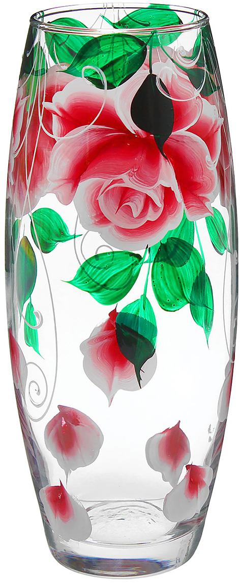 Ваза Flora Розовые лепестки, 26 см1334956Ваза - не просто сосуд для букета, а украшение убранства. Поставьте в неё цветы или декоративные веточки, и эффектный интерьерный акцент готов! Стеклянный аксессуар добавит помещению лёгкости.Ваза Flora Розовые лепестки преобразит пространство и как самостоятельный элемент декора. Наполните интерьер уютом!Каждая ваза выдувается мастером. Второй точно такой же не встретить. А случайный пузырёк воздуха или застывшая стеклянная капелька на горлышке лишь подчёркивают её уникальность.