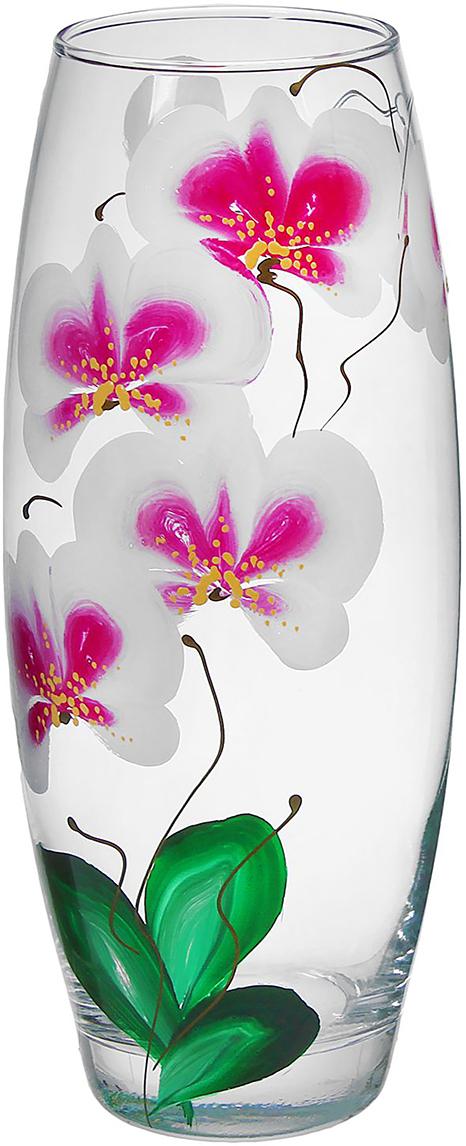 Ваза Flora Орхидея, 26 см1334958Ваза - не просто сосуд для букета, а украшение убранства. Поставьте в неё цветы или декоративные веточки, и эффектный интерьерный акцент готов! Стеклянный аксессуар добавит помещению лёгкости.Ваза Flora Орхидея, овальная преобразит пространство и как самостоятельный элемент декора. Наполните интерьер уютом!Каждая ваза выдувается мастером. Второй точно такой же не встретить. А случайный пузырёк воздуха или застывшая стеклянная капелька на горлышке лишь подчёркивают её уникальность.