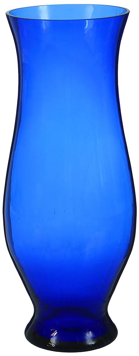 Ваза Классик, цвет: синий, 40 см1346284Ваза - не просто сосуд для букета, а украшение убранства. Поставьте в неё цветы или декоративные веточки, и эффектный интерьерный акцент готов! Стеклянный аксессуар добавит помещению лёгкости. Ваза Классик синяя преобразит пространство и как самостоятельный элемент декора. Наполните интерьер уютом! Каждая ваза выдувается мастером. Второй точно такой же не встретить. А случайный пузырёк воздуха или застывшая стеклянная капелька на горлышке лишь подчёркивают её уникальность.