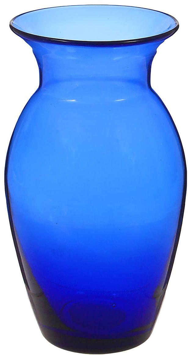 Ваза Блаженство, цвет: синий, 24 см1346290Ваза Блаженство синяя - сувенир в полном смысле этого слова. И главная его задача - хранить воспоминание о месте, где вы побывали, или о том человеке, который подарил данный предмет. Преподнесите эту вещь своему другу, и она станет достойным украшением его дома. Каждому хозяину периодически приходит мысль обновить свою квартиру, сделать ремонт, перестановку или кардинально поменять внешний вид каждой комнаты. Ваза Блаженство синяя - привлекательная деталь, которая поможет воплотить вашу интерьерную идею, создать неповторимую атмосферу в вашем доме. Окружите себя приятными мелочами, пусть они радуют глаз и дарят гармонию. Невозможно представить нашу жизнь без праздников! Мы всегда ждём их и предвкушаем, обдумываем, как проведём памятный день, тщательно выбираем подарки и аксессуары, ведь именно они создают и поддерживают торжественный настрой. Ваза Блаженство синяя - это отличный выбор, который привнесёт атмосферу праздника в ваш дом!