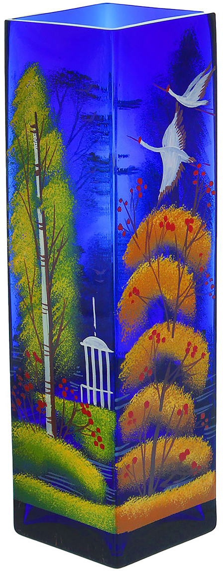 Ваза Времена года, цвет: синий, 30 см1346343Ваза - сувенир в полном смысле этого слова. И главная его задача - хранить воспоминание о месте, где вы побывали, или о том человеке, который подарил данный предмет. Преподнесите эту вещь своему другу, и она станет достойным украшением его дома. Каждому хозяину периодически приходит мысль обновить свою квартиру, сделать ремонт, перестановку или кардинально поменять внешний вид каждой комнаты. Ваза - привлекательная деталь, которая поможет воплотить вашу интерьерную идею, создать неповторимую атмосферу в вашем доме. Окружите себя приятными мелочами, пусть они радуют глаз и дарят гармонию.