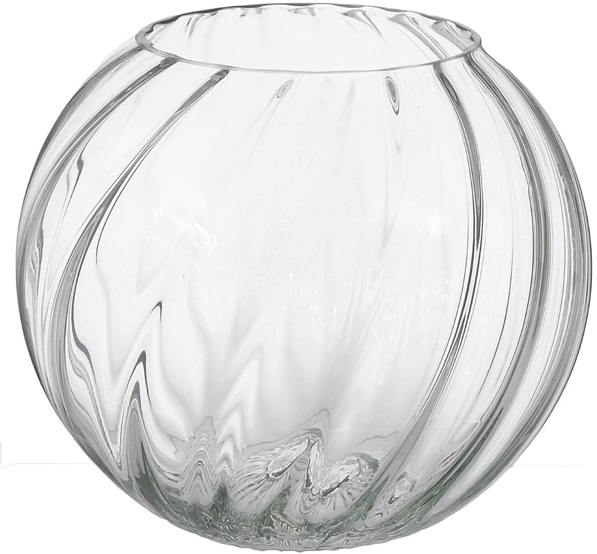 Ваза Шар, 16 см1346372Воплотите в жизнь самые смелые дизайнерские идеи по украшению дома! Ваза из прозрачного стекла - основа для вашего творчества. Насыпьте в неё цветной песок, камушки, ракушки или другой декор. Создавайте восхитительные интерьерные композиции из цветов и зелени. Ваза Шар рифлёная станет незабываемым подарком, если поместить в неё конфеты или другие сладости. Дайте волю фантазии! Каждая ваза выдувается мастером - вы не найдёте двух совершенно одинаковых. А случайный пузырёк воздуха или застывшая стеклянная капелька на горлышке лишь подчёркивают её уникальность.