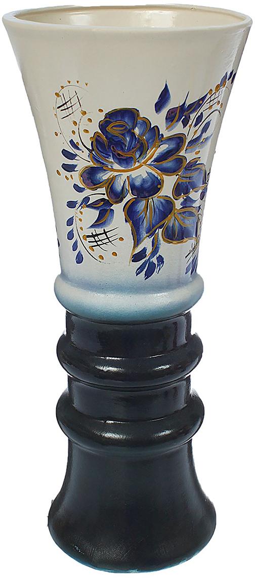 Ваза напольная Керамика ручной работы Тюльпан, цвет: черный1372908Это ваза - отличный способ подчеркнуть общий стиль интерьера. Существует множество причин иметь такой предмет дома. Вот лишь некоторые из них: Формирование праздничного настроения. Можно украсить вазу к Новому году гирляндой, тюльпанами на 8 марта, розами на день Святого Валентина, вербой на Пасху. За счёт того, что это заметный элемент интерьера, вы легко и быстро создадите во всём доме праздничное настроение. Заполнение углов, подиумов, ниш. Таким образом можно сделать обстановку более уютной и многогранной. Создание групповой композиции. Если позволяет площадь пространства, разместите несколько ваз так, чтобы они сочетались по стилю или цветовому решению. Это придаст обстановке более завершённый вид. Подходящая форма и стиль этого предмета подчеркнут достоинства дизайна квартиры. Ваза может стать отличным подарком по любому поводу, ведь такой элемент интерьера практичен и способен каждый день создавать хорошее настроение!