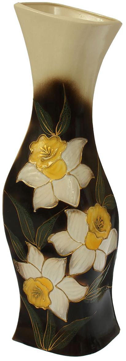 Ваза напольная Керамика ручной работы Натали, цвет: черный. 13876311387631Это ваза - отличный способ подчеркнуть общий стиль интерьера. Существует множество причин иметь такой предмет дома. Вот лишь некоторые из них: Формирование праздничного настроения. Можно украсить вазу к Новому году гирляндой, тюльпанами на 8 марта, розами на день Святого Валентина, вербой на Пасху. За счёт того, что это заметный элемент интерьера, вы легко и быстро создадите во всём доме праздничное настроение. Заполнение углов, подиумов, ниш. Таким образом можно сделать обстановку более уютной и многогранной. Создание групповой композиции. Если позволяет площадь пространства, разместите несколько ваз так, чтобы они сочетались по стилю или цветовому решению. Это придаст обстановке более завершённый вид. Подходящая форма и стиль этого предмета подчеркнут достоинства дизайна квартиры. Ваза может стать отличным подарком по любому поводу, ведь такой элемент интерьера практичен и способен каждый день создавать хорошее настроение!