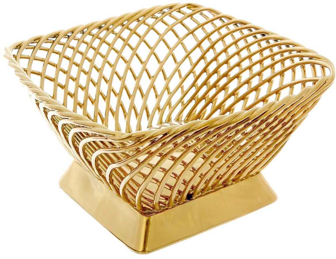 Конфетница Керамика ручной работы Плетенка, цвет: желтый1390482Ваза для конфет выполнена из фарфора золотистого цвета. Её стенки декорированы плетением, а дно украшено рисунком. Такой дизайн придётся по вкусу тем, кто предпочитает минималистичные, но изысканные детали в интерьере. Изделие предназначено для подачи конфет, сухофруктов или восточных сладостей.Фарфоровая посуда ручной работы будет радовать своей прочностью и первоначальным внешним видом не один год!