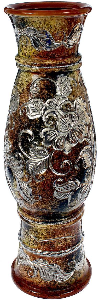 Ваза напольная Керамика ручной работы Осень, цвет: коричневый. 13909481390948Это ваза - отличный способ подчеркнуть общий стиль интерьера. Существует множество причин иметь такой предмет дома. Вот лишь некоторые из них: Формирование праздничного настроения. Можно украсить вазу к Новому году гирляндой, тюльпанами на 8 марта, розами на день Святого Валентина, вербой на Пасху. За счёт того, что это заметный элемент интерьера, вы легко и быстро создадите во всём доме праздничное настроение. Заполнение углов, подиумов, ниш. Таким образом можно сделать обстановку более уютной и многогранной. Создание групповой композиции. Если позволяет площадь пространства, разместите несколько ваз так, чтобы они сочетались по стилю или цветовому решению. Это придаст обстановке более завершённый вид. Подходящая форма и стиль этого предмета подчеркнут достоинства дизайна квартиры. Ваза может стать отличным подарком по любому поводу, ведь такой элемент интерьера практичен и способен каждый день создавать хорошее настроение!