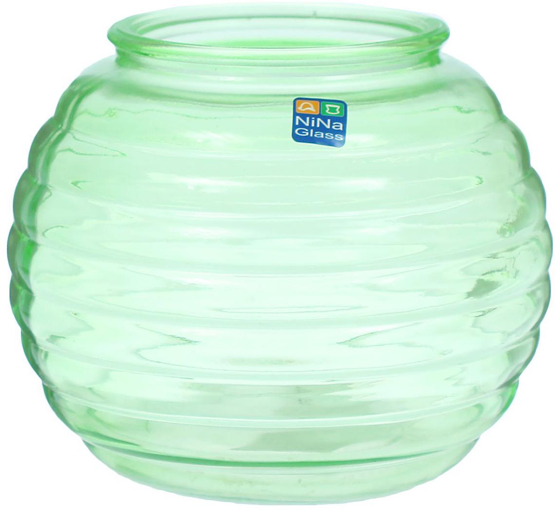 Ваза NiNa Glass Зара, цвет: зеленый, 1,8 л1395714Ваза - не просто сосуд для букета, а украшение убранства. Поставьте в нее цветы или декоративные веточки, и эффектный интерьерный акцент готов! Стеклянный аксессуар добавит помещению легкости. Ваза Зара преобразит пространство и как самостоятельный элемент декора. Наполните интерьер уютом!