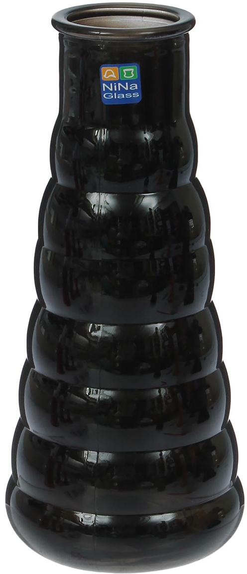 Ваза NiNa Glass Клод, цвет: черный, 21 см1395729Ваза - не просто сосуд для букета, а украшение убранства. Поставьте в неё цветы или декоративные веточки, и эффектный интерьерный акцент готов! Стеклянный аксессуар добавит помещению лёгкости. Ваза Клод чёрная преобразит пространство и как самостоятельный элемент декора. Наполните интерьер уютом! Каждая ваза выдувается мастером. Второй точно такой же не встретить. А случайный пузырёк воздуха или застывшая стеклянная капелька на горлышке лишь подчёркивают её уникальность.