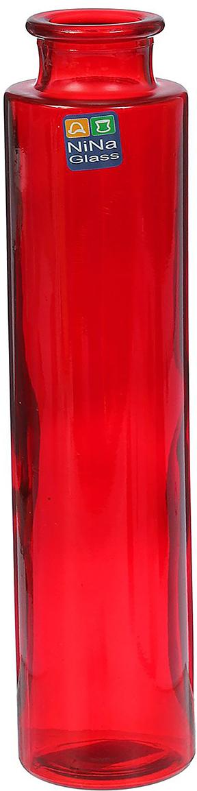 Ваза NiNa Glass Флинт, цвет: красный, 21 см1395730Ваза - не просто сосуд для букета, а украшение убранства. Поставьте в неё цветы или декоративные веточки, и эффектный интерьерный акцент готов! Стеклянный аксессуар добавит помещению лёгкости. Ваза Флинт рубин преобразит пространство и как самостоятельный элемент декора. Наполните интерьер уютом! Каждая ваза выдувается мастером. Второй точно такой же не встретить. А случайный пузырёк воздуха или застывшая стеклянная капелька на горлышке лишь подчёркивают её уникальность.