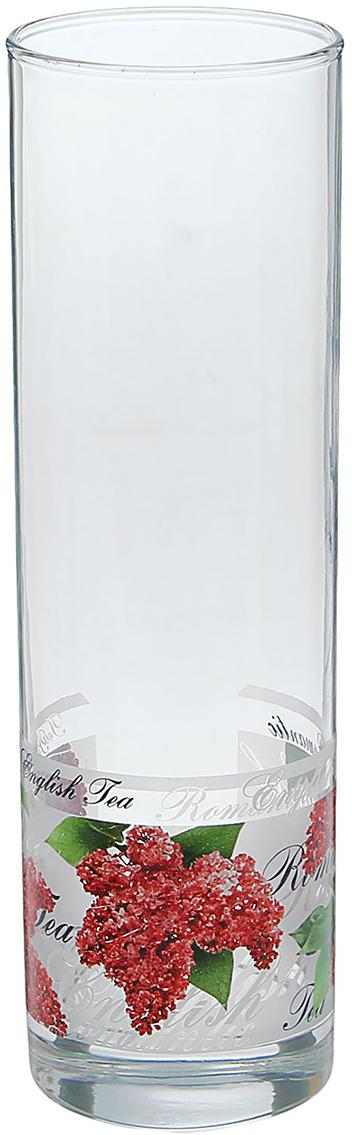Ваза Decor Style Glass English tea, 26,5 см1407639Ваза - не просто сосуд для букета, а украшение убранства. Поставьте в неё цветы или декоративные веточки, и эффектный интерьерный акцент готов! Стеклянный аксессуар добавит помещению лёгкости. Ваза English tea, круг из сирени преобразит пространство и как самостоятельный элемент декора. Наполните интерьер уютом! Каждая ваза выдувается мастером. Второй точно такой же не встретить. А случайный пузырёк воздуха или застывшая стеклянная капелька на горлышке лишь подчёркивают её уникальность.