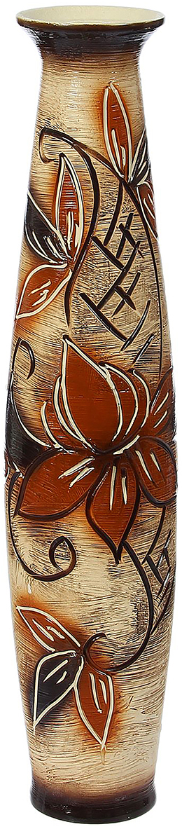 """Ваза ручной работы """"Лань"""", изготовленная из керамики, отлично подчеркнет особенности интерьера. Существует множество причин иметь такой предмет дома. Вот лишь некоторые из них: Формирование праздничного настроения. Можно украсить вазу гирляндой к Новому году, тюльпанами на 8 марта,  розами на день Святого  Валентина, вербой на Пасху. За счет того, что это заметный элемент интерьера, вы легко и быстро создадите во  всем доме праздничное  настроение. Заполнение углов, подиумов, ниш. Это поможет сделать обстановку более уютной и многогранной. Создание групповой композиции. Если позволяет площадь пространства, разместите несколько ваз так, чтобы  они сочетались по стилю или  цветовому решению. Это придаст обстановке более завершенный вид. Подходящая форма и стиль этого предмета подчеркнут достоинства дизайна квартиры. Ваза может стать  отличным подарком по любому поводу,  ведь такой элемент интерьера практичен и способен каждый день создавать хорошее настроение!"""