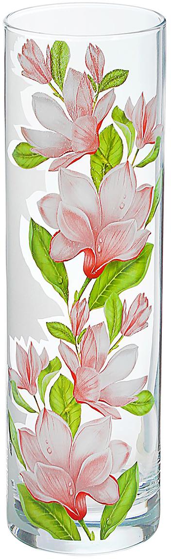 Ваза Flora Магнолия, 26,5 см1438300Ваза - не просто сосуд для букета, а украшение убранства. Поставьте в неё цветы или декоративные веточки, и эффектный интерьерный акцент готов! Стеклянный аксессуар добавит помещению лёгкости.Ваза Flora Магнолия, прямая преобразит пространство и как самостоятельный элемент декора. Наполните интерьер уютом!Каждая ваза выдувается мастером. Второй точно такой же не встретить. А случайный пузырёк воздуха или застывшая стеклянная капелька на горлышке лишь подчёркивают её уникальность.