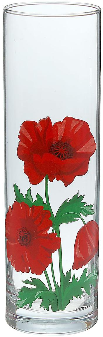 Ваза Flora Маки, 26,5 см ваза прямая цвет красный 51 см 2176628