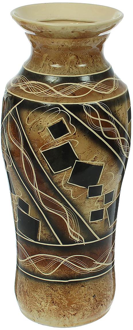 Ваза напольная Керамика ручной работы Весна, цвет: коричневый1440989Это ваза - отличный способ подчеркнуть общий стиль интерьера.Существует множество причин иметь такой предмет дома. Вот лишь некоторые из них:Формирование праздничного настроения. Можно украсить вазу к Новому году гирляндой, тюльпанами на 8 марта, розами на день Святого Валентина, вербой на Пасху. За счёт того, что это заметный элемент интерьера, вы легко и быстро создадите во всём доме праздничное настроение.Заполнение углов, подиумов, ниш. Таким образом можно сделать обстановку более уютной и многогранной.Создание групповой композиции. Если позволяет площадь пространства, разместите несколько ваз так, чтобы они сочетались по стилю или цветовому решению. Это придаст обстановке более завершённый вид.Подходящая форма и стиль этого предмета подчеркнут достоинства дизайна квартиры. Ваза может стать отличным подарком по любому поводу, ведь такой элемент интерьера практичен и способен каждый день создавать хорошее настроение!