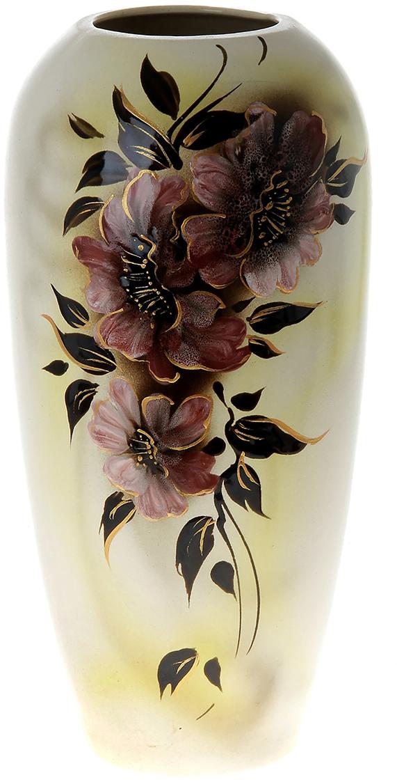 """Ваза напольная """"Аурика"""" цветы, глазурь, лимонная - отличный способ подчеркнуть общий стиль интерьера. Существует множество причин иметь такой предмет дома. Вот лишь некоторые из них: Формирование праздничного настроения. Можно украсить вазу к Новому году гирляндой, тюльпанами на 8 марта, розами на день Святого Валентина, вербой на Пасху. За счёт того, что это заметный элемент интерьера, вы легко и быстро создадите во всём доме праздничное настроение. Заполнение углов, подиумов, ниш. Таким образом можно сделать обстановку более уютной и многогранной. Создание групповой композиции. Если позволяет площадь пространства, разместите несколько ваз так, чтобы они сочетались по стилю или цветовому решению. Это придаст обстановке более завершённый вид. Подходящая форма и стиль этого предмета подчеркнут достоинства дизайна квартиры. Ваза может стать отличным подарком по любому поводу, ведь такой элемент интерьера практичен и способен каждый день создавать хорошее настроение!"""
