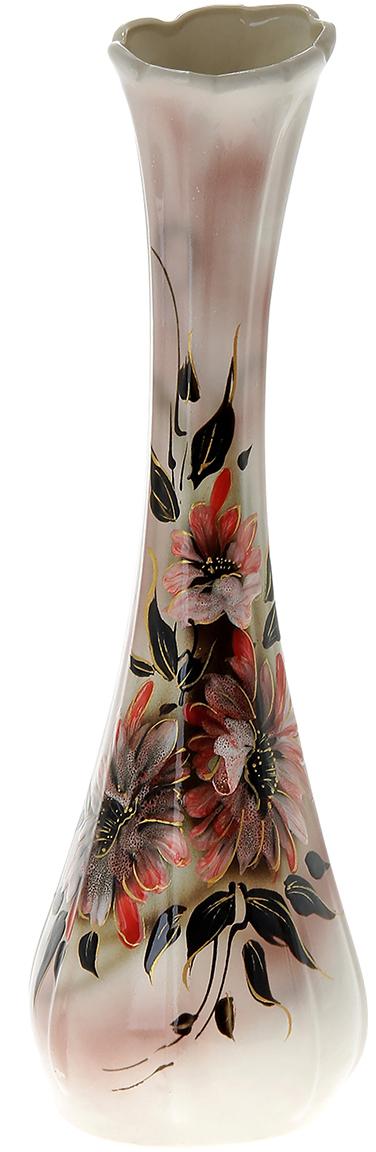 Ваза напольная Керамика ручной работы Лилия, цвет: розовый, глазурь144168Это ваза - отличный способ подчеркнуть общий стиль интерьера. Существует множество причин иметь такой предмет дома. Вот лишь некоторые из них: Формирование праздничного настроения. Можно украсить вазу к Новому году гирляндой, тюльпанами на 8 марта, розами на день Святого Валентина, вербой на Пасху. За счёт того, что это заметный элемент интерьера, вы легко и быстро создадите во всём доме праздничное настроение. Заполнение углов, подиумов, ниш. Таким образом можно сделать обстановку более уютной и многогранной. Создание групповой композиции. Если позволяет площадь пространства, разместите несколько ваз так, чтобы они сочетались по стилю или цветовому решению. Это придаст обстановке более завершённый вид. Подходящая форма и стиль этого предмета подчеркнут достоинства дизайна квартиры. Ваза может стать отличным подарком по любому поводу, ведь такой элемент интерьера практичен и способен каждый день создавать хорошее настроение!