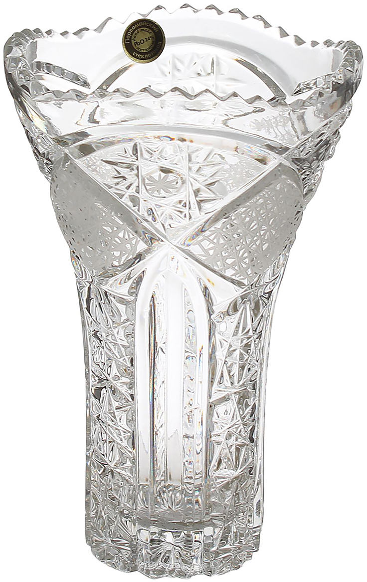 Ваза Аврора, хрустальная, 20 см1464801Благородный хрусталь - это старинные традиции, изысканность и шарм. Материал завораживает своей кристальной прозрачностью, блеском и тонкой игрой света. Радужные переливы добавят помещению торжественности.Хрустальная ваза - самодостаточное украшение, а в сочетании с пышными цветами она станет настоящим интерьерным шедевром. Насладитесь доступной роскошью!
