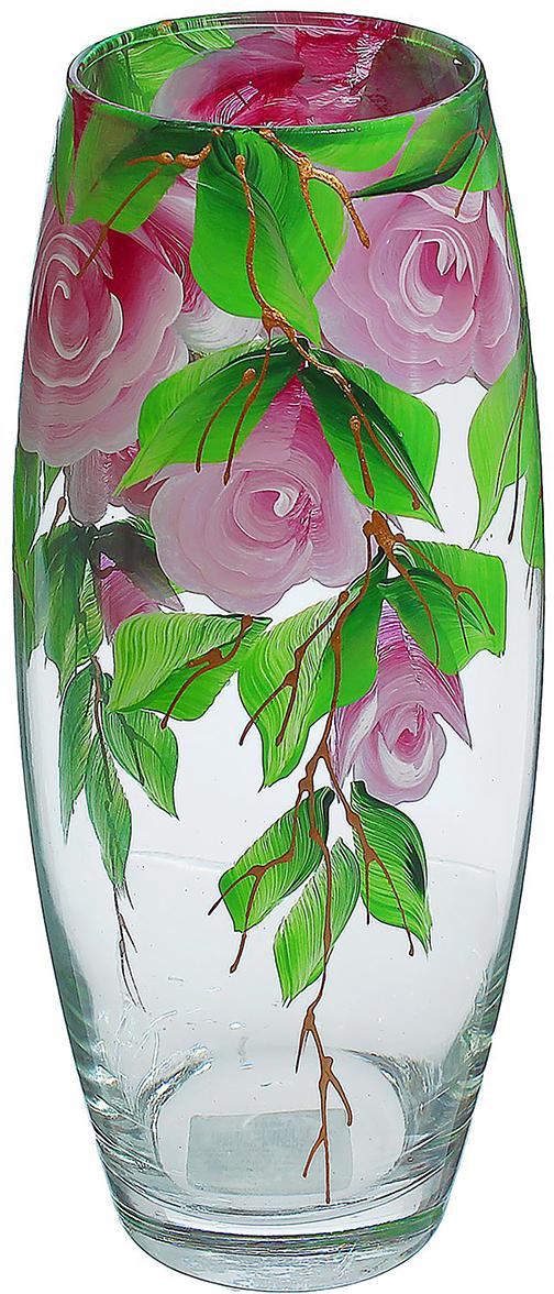Ваза Яркая роза, 26 см1466178Ваза - не просто сосуд для букета, а украшение убранства. Поставьте в неё цветы или декоративные веточки, и эффектный интерьерный акцент готов! Стеклянный аксессуар добавит помещению лёгкости. Ваза Яркая роза преобразит пространство и как самостоятельный элемент декора. Наполните интерьер уютом! Каждая ваза выдувается мастером. Второй точно такой же не встретить. А случайный пузырёк воздуха или застывшая стеклянная капелька на горлышке лишь подчёркивают её уникальность.