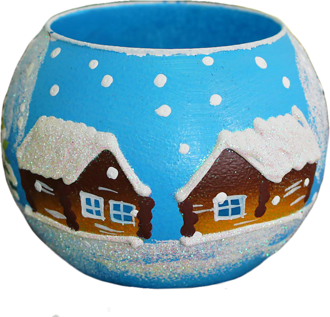 Ваза-подсвечник Зимняя деревня, цвет: голубой, 10 см1466218Ваза - сувенир в полном смысле этого слова. И главная его задача - хранить воспоминание о месте, где вы побывали, или о том человеке, который подарил данный предмет. Преподнесите эту вещь своему другу, и она станет достойным украшением его дома. Каждому хозяину периодически приходит мысль обновить свою квартиру, сделать ремонт, перестановку или кардинально поменять внешний вид каждой комнаты. Ваза - привлекательная деталь, которая поможет воплотить вашу интерьерную идею, создать неповторимую атмосферу в вашем доме.