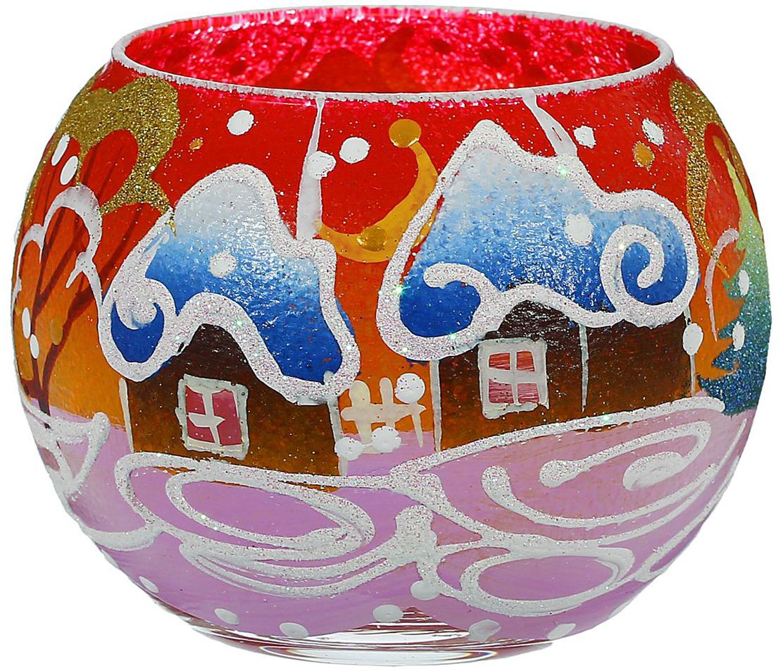 Ваза-подсвечник Алое небо, цвет: красный, 10 см ваза прямая цвет красный 51 см 2176628