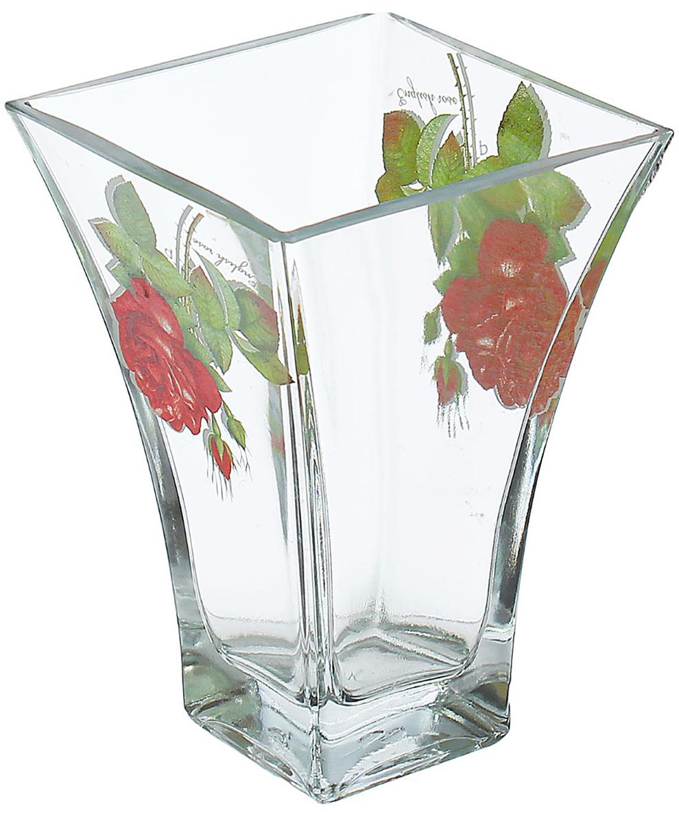Ваза Ботаника, 14 см1466451Ваза - не просто сосуд для букета, а украшение убранства. Поставьте в неё цветы или декоративные веточки, и эффектный интерьерный акцент готов! Стеклянный аксессуар добавит помещению лёгкости. Ваза Ботаника, алая роза преобразит пространство и как самостоятельный элемент декора. Наполните интерьер уютом! Каждая ваза выдувается мастером. Второй точно такой же не встретить. А случайный пузырёк воздуха или застывшая стеклянная капелька на горлышке лишь подчёркивают её уникальность.