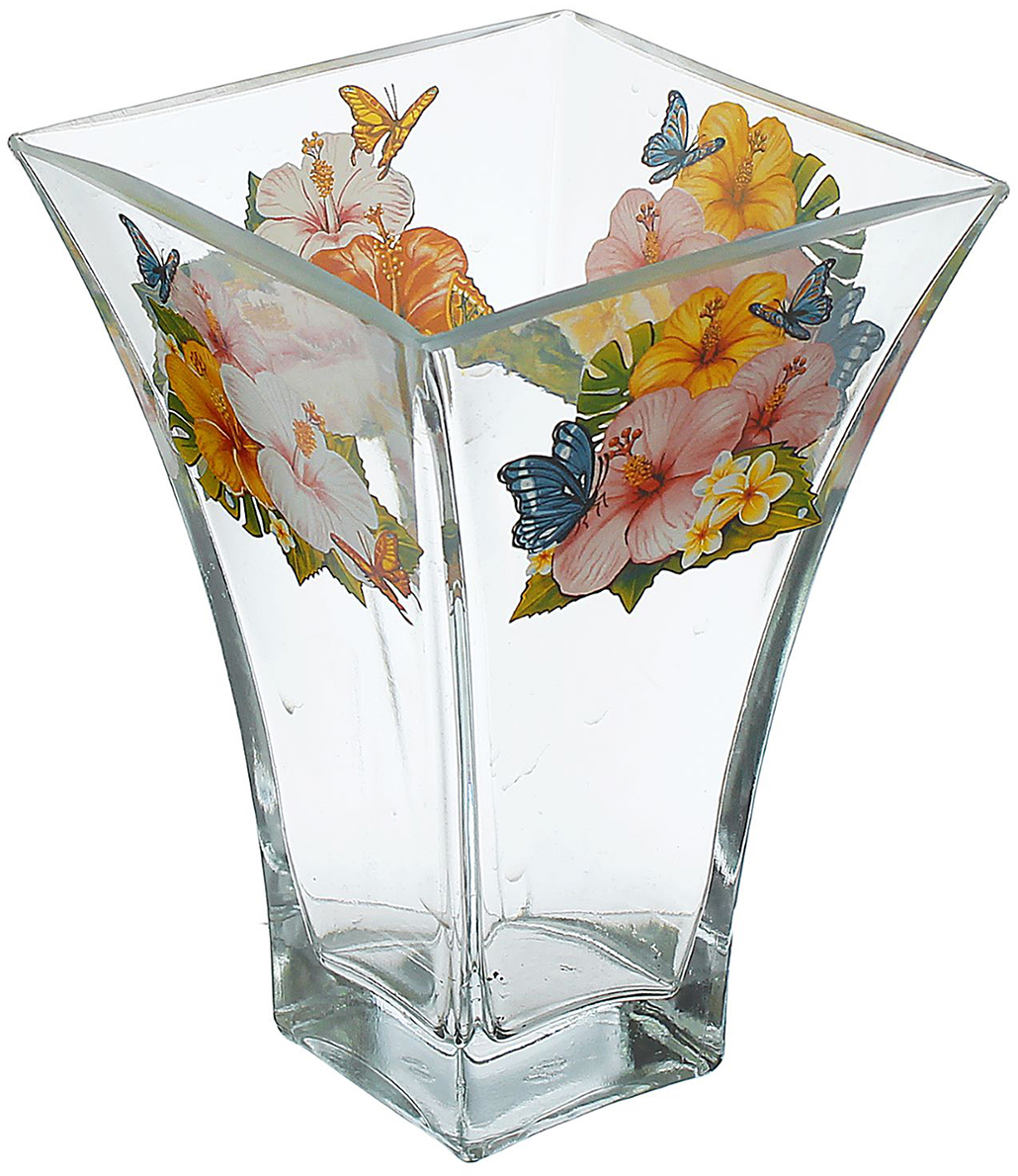 Ваза Ботаника, 20 см. 14664551466455Ваза - не просто сосуд для букета, а украшение убранства. Поставьте в неё цветы или декоративные веточки, и эффектный интерьерный акцент готов! Стеклянный аксессуар добавит помещению лёгкости. Ваза Ботаника, райский сад преобразит пространство и как самостоятельный элемент декора. Наполните интерьер уютом! Каждая ваза выдувается мастером. Второй точно такой же не встретить. А случайный пузырёк воздуха или застывшая стеклянная капелька на горлышке лишь подчёркивают её уникальность.