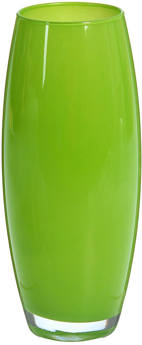 Ваза Dimard Флора, цвет: зеленый1466846Ваза - не просто сосуд для букета, а украшение убранства. Поставьте в неё цветы или декоративные веточки, и эффектный интерьерный акцент готов! Стеклянный аксессуар добавит помещению лёгкости. Ваза Флора зелёная преобразит пространство и как самостоятельный элемент декора. Наполните интерьер уютом! Каждая ваза выдувается мастером. Второй точно такой же не встретить. А случайный пузырёк воздуха или застывшая стеклянная капелька на горлышке лишь подчёркивают её уникальность.
