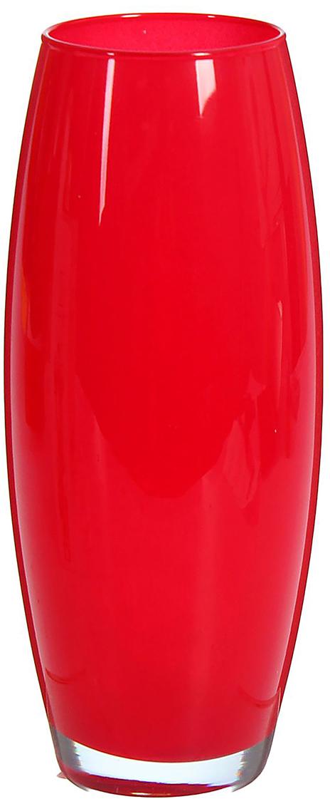 Ваза Dimard Флора, цвет: красный1466847Ваза - не просто сосуд для букета, а украшение убранства. Поставьте в неё цветы или декоративные веточки, и эффектный интерьерный акцент готов! Стеклянный аксессуар добавит помещению лёгкости. Ваза Флора красная преобразит пространство и как самостоятельный элемент декора. Наполните интерьер уютом! Каждая ваза выдувается мастером. Второй точно такой же не встретить. А случайный пузырёк воздуха или застывшая стеклянная капелька на горлышке лишь подчёркивают её уникальность.