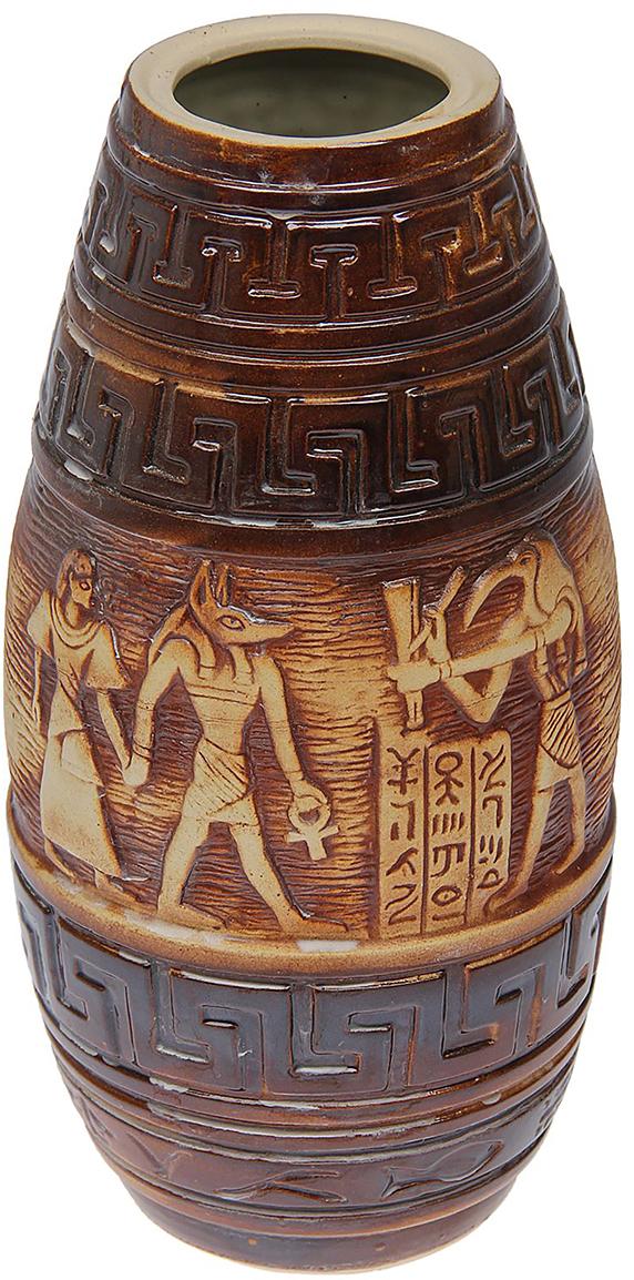 Ваза Керамика ручной работы Египет, цвет: коричневый1473331Ваза - сувенир в полном смысле этого слова. И главная его задача - хранить воспоминание о месте, где вы побывали, или о том человеке, который подарил данный предмет. Преподнесите эту вещь своему другу, и она станет достойным украшением его дома.Каждому хозяину периодически приходит мысль обновить свою квартиру, сделать ремонт, перестановку или кардинально поменять внешний вид каждой комнаты. Ваза - привлекательная деталь, которая поможет воплотить вашу интерьерную идею, создать неповторимую атмосферу в вашем доме. Окружите себя приятными мелочами, пусть они радуют глаз и дарят гармонию.