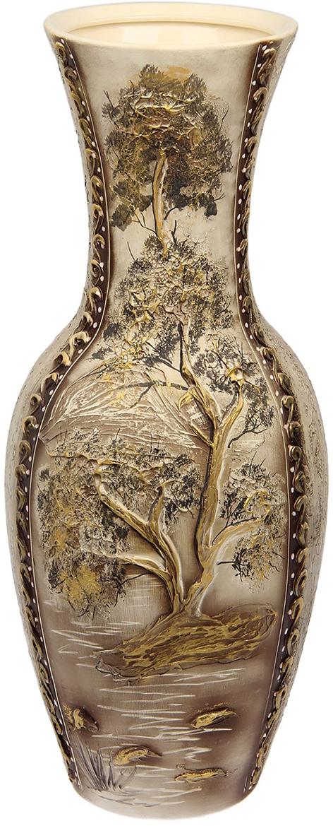 Ваза напольная Керамика ручной работы Татьяна, цвет: коричневый1476301Это ваза - отличный способ подчеркнуть общий стиль интерьера. Существует множество причин иметь такой предмет дома. Вот лишь некоторые из них: Формирование праздничного настроения. Можно украсить вазу к Новому году гирляндой, тюльпанами на 8 марта, розами на день Святого Валентина, вербой на Пасху. За счёт того, что это заметный элемент интерьера, вы легко и быстро создадите во всём доме праздничное настроение. Заполнение углов, подиумов, ниш. Таким образом можно сделать обстановку более уютной и многогранной. Создание групповой композиции. Если позволяет площадь пространства, разместите несколько ваз так, чтобы они сочетались по стилю или цветовому решению. Это придаст обстановке более завершённый вид. Подходящая форма и стиль этого предмета подчеркнут достоинства дизайна квартиры. Ваза может стать отличным подарком по любому поводу, ведь такой элемент интерьера практичен и способен каждый день создавать хорошее настроение!