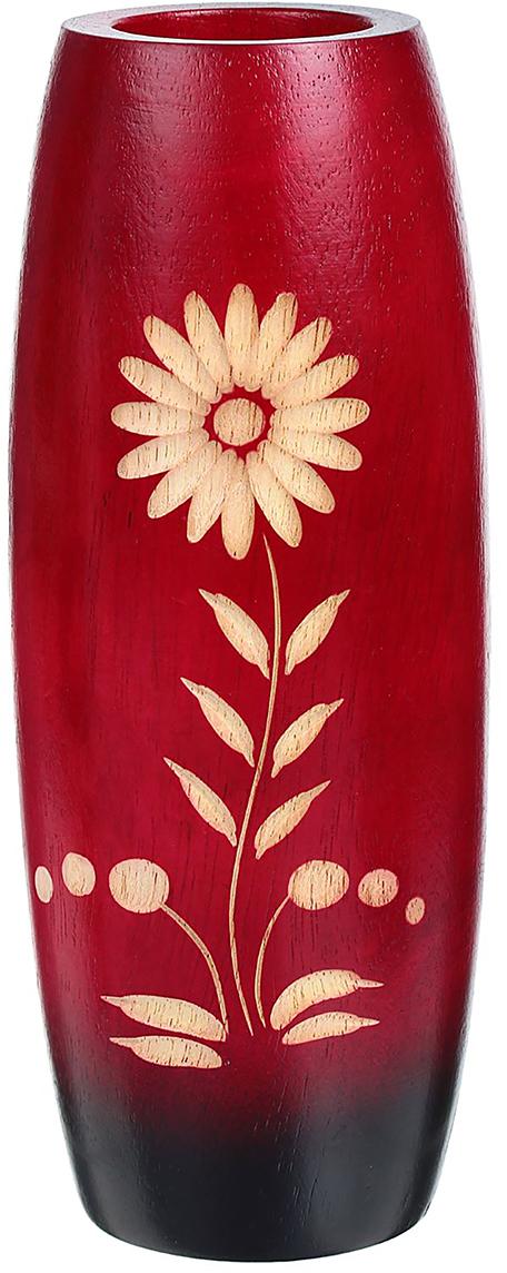 Ваза Ромашка на розовом, цвет: красный, 19 см1487852Ваза - изысканный аксессуар, который привносит в интерьер неповторимость, лёгкость и изящество. Она практична и эстетична, делает обстановку разнообразнее и оригинальнее. Экзотический сосуд будет наиболее удачно смотреться в прихожей, гостиной или спальне. Поставьте в вазу цветы или декоративные ветки, и помещение преобразится. Кроме того, такая вещь станет уместным подарком новосёлу или другу, который ценит уют.