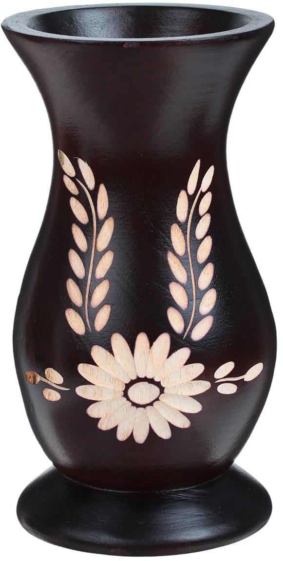 Ваза Гербера, цвет: коричневый, 18,5 см1487853Ваза - изысканный аксессуар, который привносит в интерьер неповторимость, лёгкость и изящество. Она практична и эстетична, делает обстановку разнообразнее и оригинальнее. Экзотический сосуд будет наиболее удачно смотреться в прихожей, гостиной или спальне. Поставьте в вазу цветы или декоративные ветки, и помещение преобразится. Кроме того, такая вещь станет уместным подарком новосёлу или другу, который ценит уют.