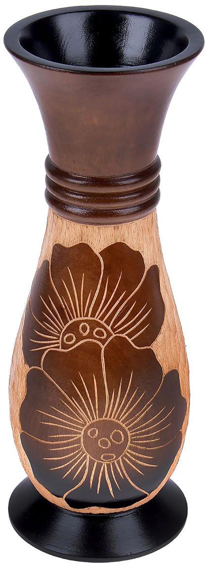 Ваза Кувшинка, цвет: коричневый, 35,5 см1487863Ваза - изысканный аксессуар, который привносит в интерьер неповторимость, лёгкость и изящество. Она практична и эстетична, делает обстановку разнообразнее и оригинальнее. Экзотический сосуд будет наиболее удачно смотреться в прихожей, гостиной или спальне. Поставьте в вазу цветы или декоративные ветки, и помещение преобразится. Кроме того, такая вещь станет уместным подарком новосёлу или другу, который ценит уют.