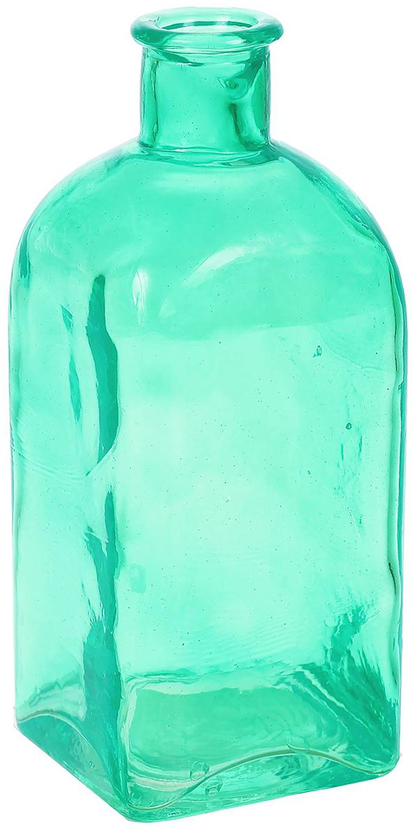Ваза Evis Цитадель, высота 22 см, цвет: зеленый ваза бокал evis бренди высота 11 см