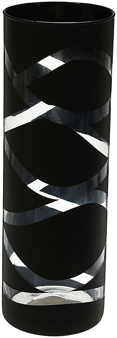 Ваза Evis Вернисаж, цвет: черный, трубка1517497Ваза - не просто сосуд для букета, а украшение убранства. Поставьте в неё цветы или декоративные веточки, и эффектный интерьерный акцент готов! Стеклянный аксессуар добавит помещению лёгкости. Ваза Вернисаж трубка преобразит пространство и как самостоятельный элемент декора. Наполните интерьер уютом! Каждая ваза выдувается мастером. Второй точно такой же не встретить. А случайный пузырёк воздуха или застывшая стеклянная капелька на горлышке лишь подчёркивают её уникальность.