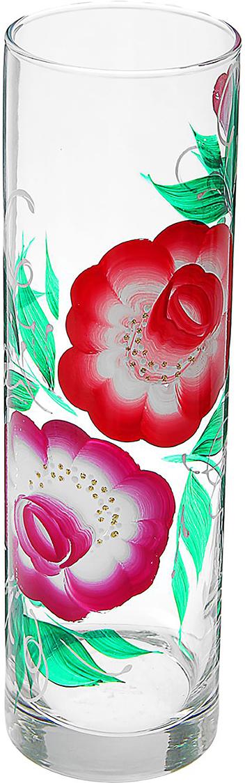 Ваза Flora Розалия, 26,5 см1551071Ваза - не просто сосуд для букета, а украшение убранства. Поставьте в неё цветы или декоративные веточки, и эффектный интерьерный акцент готов! Стеклянный аксессуар добавит помещению лёгкости. Ваза Flora Розалия преобразит пространство и как самостоятельный элемент декора. Наполните интерьер уютом! Каждая ваза выдувается мастером. Второй точно такой же не встретить. А случайный пузырёк воздуха или застывшая стеклянная капелька на горлышке лишь подчёркивают её уникальность.
