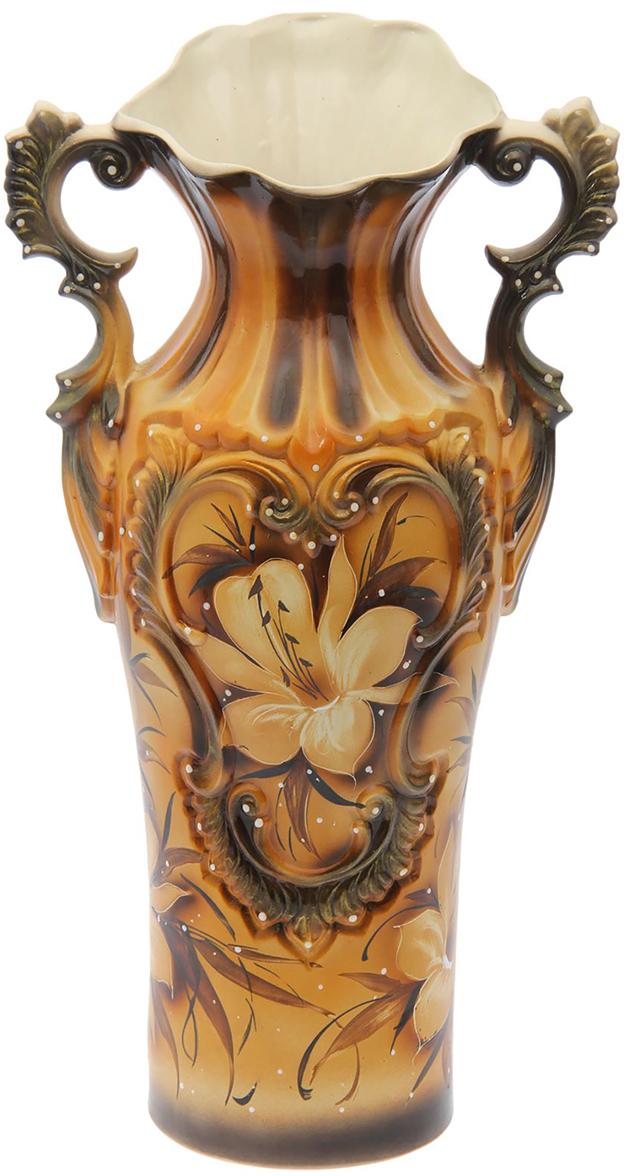 Ваза напольная Керамика ручной работы Весна, цвет: коричневый. 15532111553211Это ваза - отличный способ подчеркнуть общий стиль интерьера. Существует множество причин иметь такой предмет дома. Вот лишь некоторые из них: Формирование праздничного настроения. Можно украсить вазу к Новому году гирляндой, тюльпанами на 8 марта, розами на день Святого Валентина, вербой на Пасху. За счёт того, что это заметный элемент интерьера, вы легко и быстро создадите во всём доме праздничное настроение. Заполнение углов, подиумов, ниш. Таким образом можно сделать обстановку более уютной и многогранной. Создание групповой композиции. Если позволяет площадь пространства, разместите несколько ваз так, чтобы они сочетались по стилю или цветовому решению. Это придаст обстановке более завершённый вид. Подходящая форма и стиль этого предмета подчеркнут достоинства дизайна квартиры. Ваза может стать отличным подарком по любому поводу, ведь такой элемент интерьера практичен и способен каждый день создавать хорошее настроение!